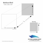 Echuca Moama Boat Storage Solutions Medium shed size dimensions 7.5m long 3.5m wide 4m high
